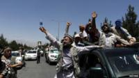 Supporters of Afghan presidential candidate Abdullah Abdullah in Kabul, 21 June 2014