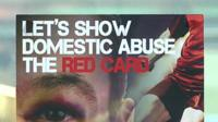 Domestic abuse red card flier