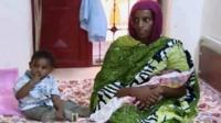 Image from recent video showing Meriam Ibrahim and children