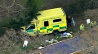 Crashed ambulance