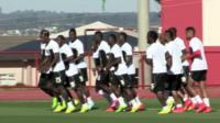 Ghana team members in training