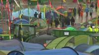 Tents at Glastonbury