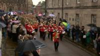 The 3rd Battalion parade through Lichfield