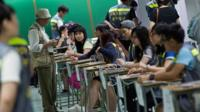 Votes are being counted in Hong Kong