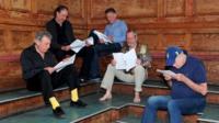 Monty Python team read scripts