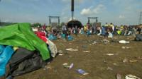 Glastonbury festival clear up