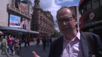 Rory Cellan-Jones wearing Google Glass