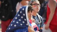 US fans at Soldier Field in Chicago