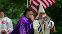 Ku Klux Klan members at a rally