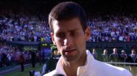 Wimbledon 2014: Novak Djokovic talks after beating Roger Federer