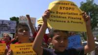 Children in a demonstration