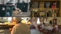 Council services: refuse, library, school meals, care centre