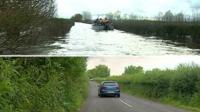 Muchelney road composite image