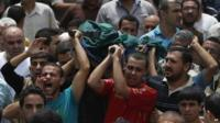Body carried for burial in Gaza