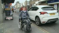 Kieran in wheelchair