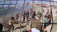 Beach near Gaza City where four children died