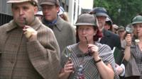 Sherlock Holmes fans gather to attempt a world record