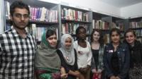 From left to right: Sufyan, Malala, Makalia, Alisha, Holly, Kuljeet and Sahira