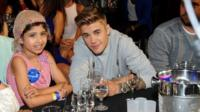 Grace Kesablak and Justin Bieber