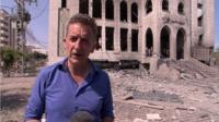 Chris Morris reports on the aftermath after strikes on Gaza City