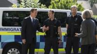 David Cameron, Theresa May, and Home Office Immigration Enforcement officers
