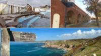 Three coastal areas