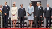 The Duke and Duchess of Cambridge, Francois Hollande, Queen Mathilde of Belgium, King Philippe of Belgium and Joachim Gauck