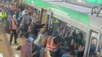 Passengers tilt train