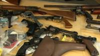 A total of 131 weapons were handed in, police said