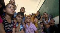 Family made homeless by conflict in Gaza