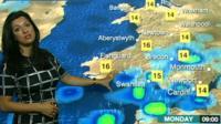 Behnaz Akhgar presents the weather forecast