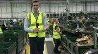 Ben Thompson at John Lewis Online warehouse