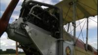 WW1 BE2 Bi-Plane plane replica