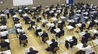 School pupils sitting exam