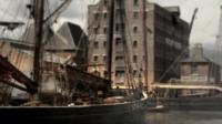 Gloucester Docks as a film set