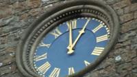 The clock at Holy Trinity church, Ventnor