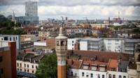 Scene of east London buildings