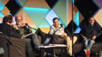 James Naughtie with Will Gompertz, Igor Meerson and Francesco de Carlo