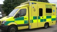 A similar ambulance to the ones in the new fleet