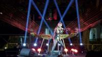 William Close playing his earth harp