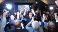 AfD members celebrate