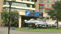 Nato plane outside Celtic Manor