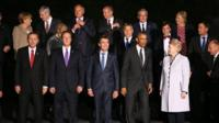 Nato leaders in their family photo