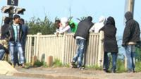 Immigrants in Calais