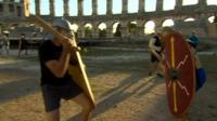 Gladiator fighting in Croatia