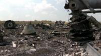 Crash site of MH17