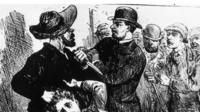 Drawing depicting a man accused of being Jack the Ripper