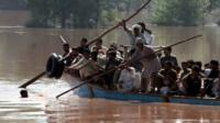 Crowded boat in Punjab province