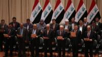 Iraqi government being sworn in