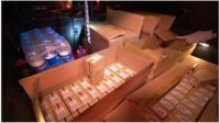 Mobile phones seized during dawn raids across London